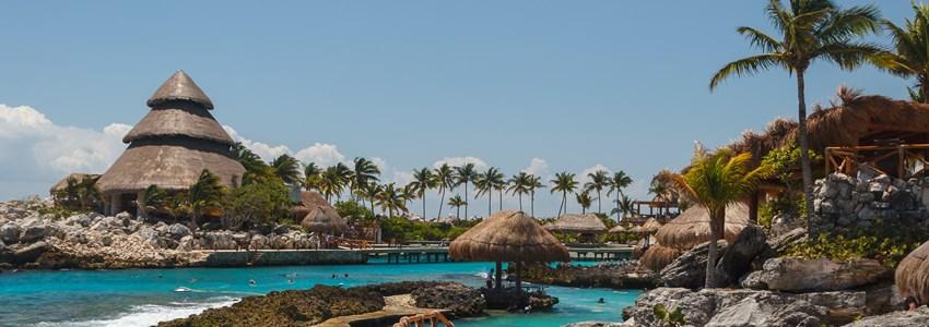 Caribbean landscape near Cancun, Mexico