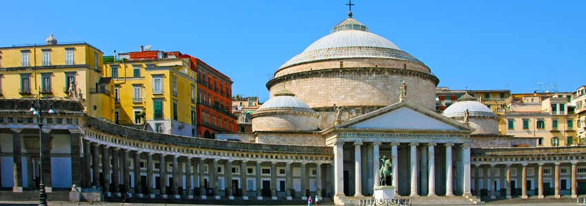 San Francesco Paola on Piazza del Plebiscito, Italy, Naples