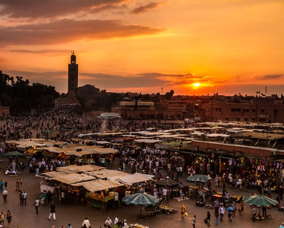 square and market place in Marrakesh's medina quarter