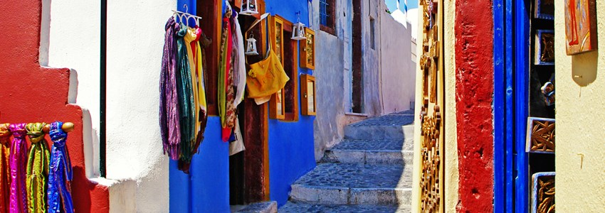 colors of Greece - pictorial streets of Cycladic islands