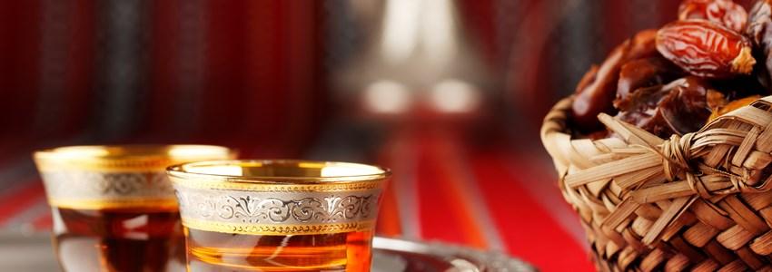 Arabic tea and dates,