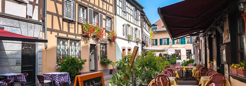Cafes in Petite-France in Strasbourg