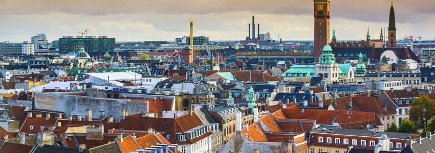 Copenhagen, Denmark aerial view of the skyline.