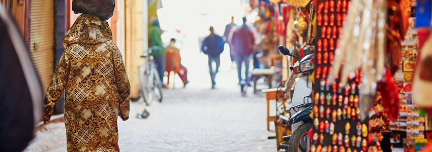 Women on Moroccan market in Marrakech
