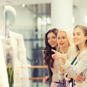 happy young women with shopping bags / Syda Productions/Shutterstock.com
