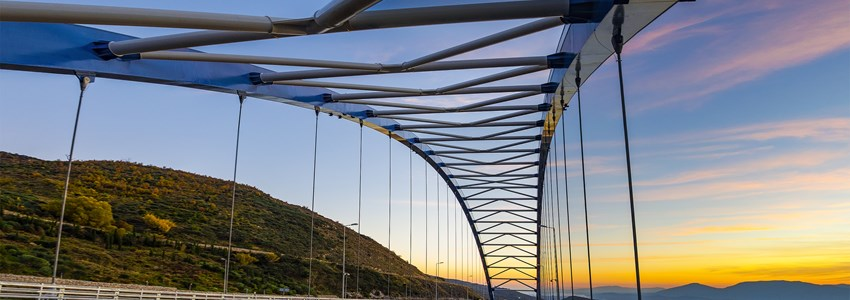 The New Bridge connects the National main road from Kalamata city to Athens - Greece