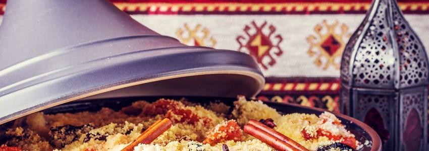 Traditional moroccan tajine of chicken
