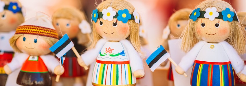 Colorful Estonian Dolls - Tallinn, Estonia
