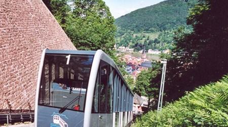 Heidelberg Funicular Railway and the Königstuhl Mountain